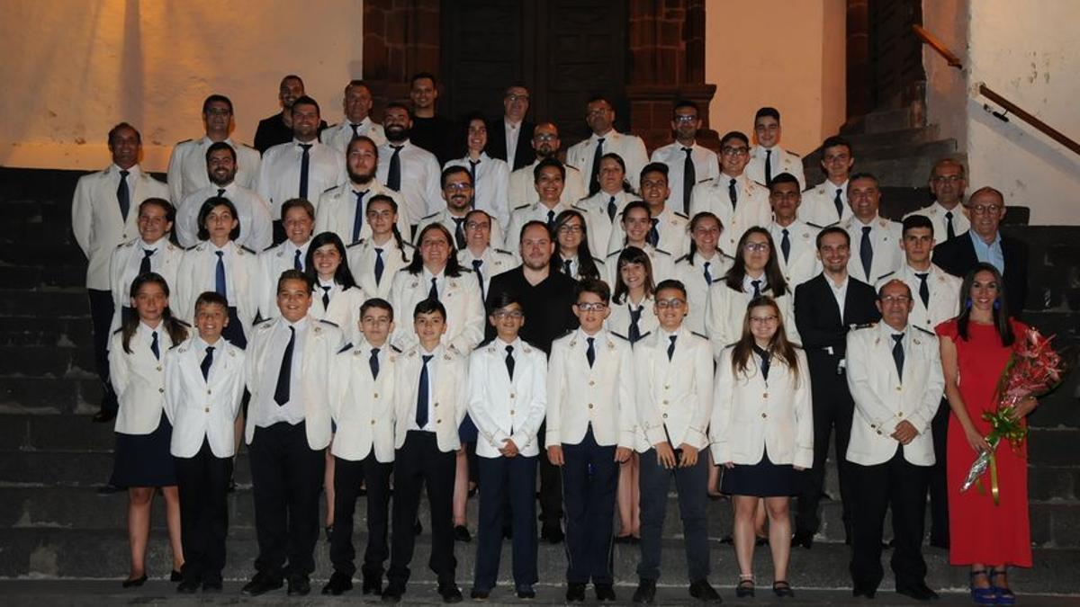Imagen de archivo de la Banda Municipal de Música San Miguel de Santa Cruz de La Palma.