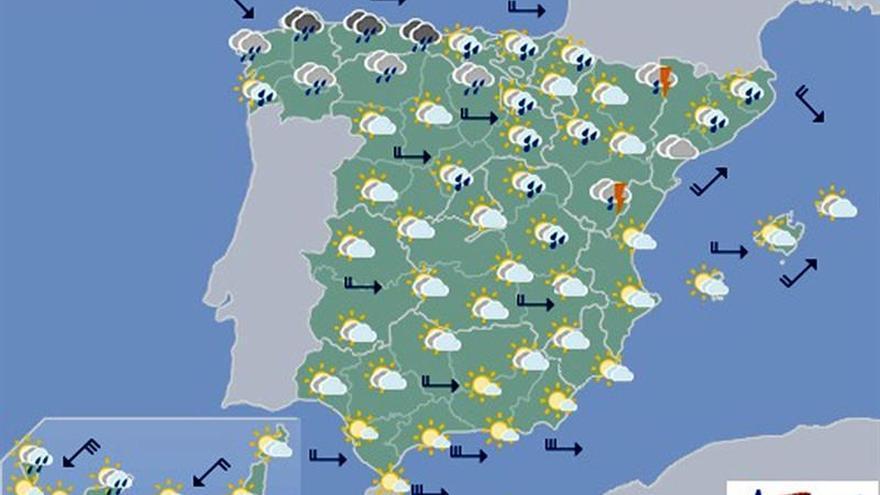Mañana, lluvias y tormentas generalizadas y temperaturas en descenso