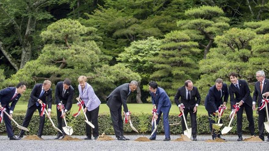 El G7 se compromete a la pronta aplicación del acuerdo sobre cambio climático
