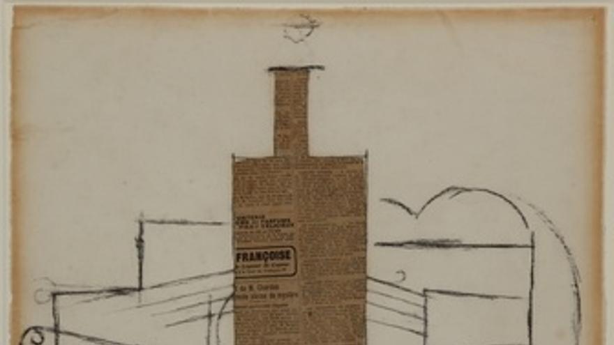 'Botella Y Violín Sobre Mesa', De Picasso, 1912
