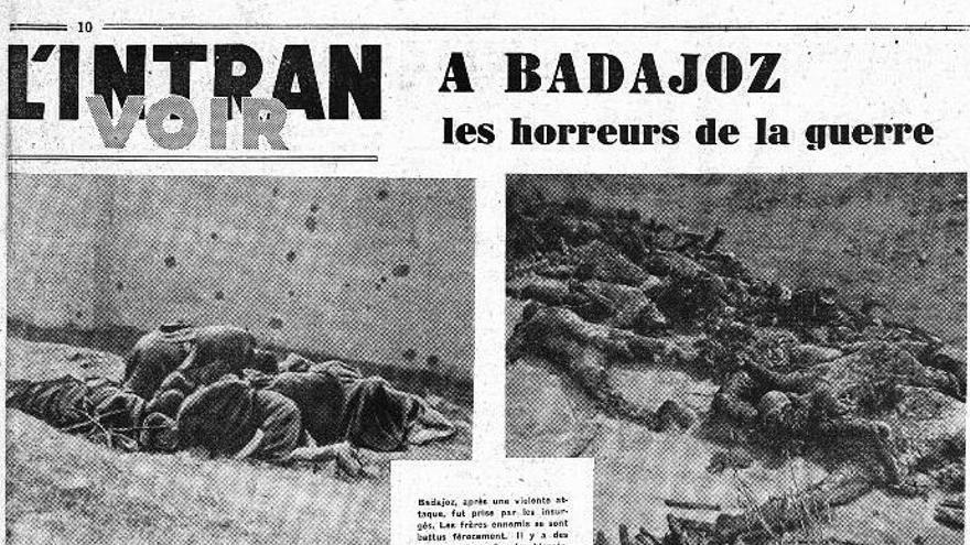 La matanza de Badajoz en un periódico francés