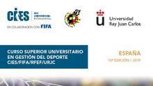 Encabezado del folleto del curso de la Federación que pone el sello de la URJC