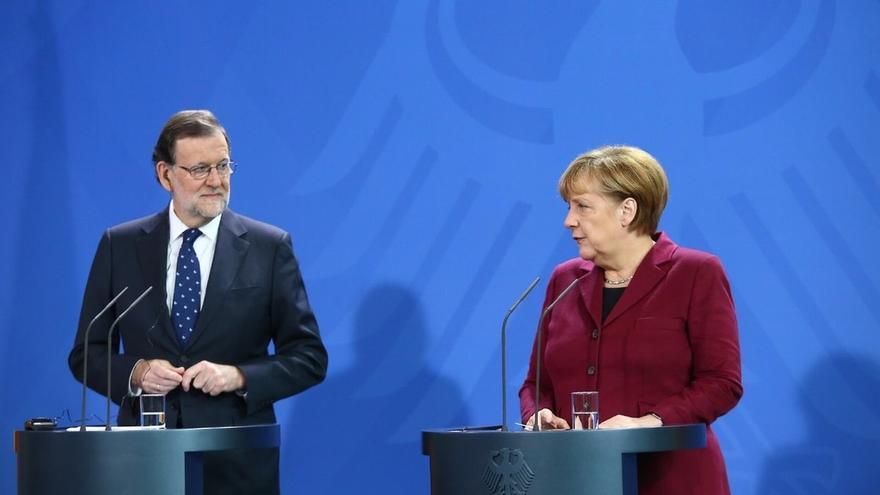 Merkel elogia la senda positiva de España ante un Rajoy que desea un núcleo europeo antipopulista
