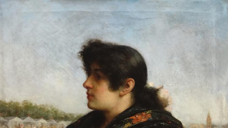 Retrato de huertana de José María Alarcón y Cárceles, 1880.