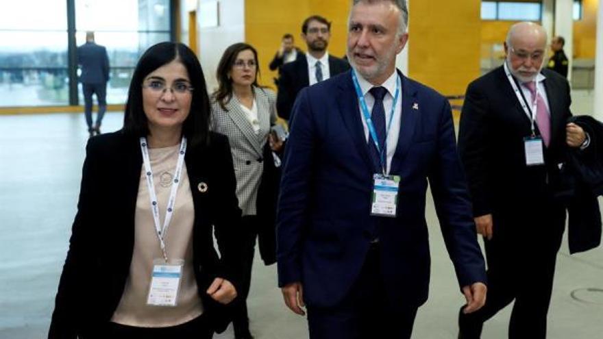 La ministra de Política Territorial y Función Pública, Carolina Darias, en el X Foro Exceltur de FITUR 2020 en Madrid.