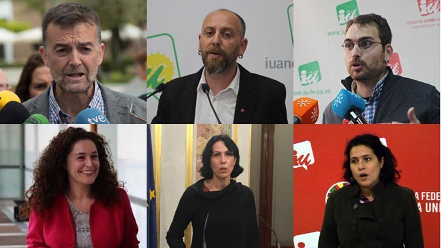 Antonio Maíllo, Ernesto Alba y Toni Valero, por arriba; Inma Nieto, Eva García Sempere y Amanda Meyer, por abajo.