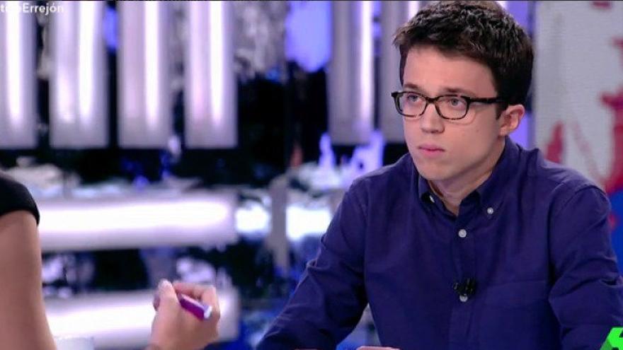 Íñigo Errejón durante la entrevista con Ana Pastor en El Objetivo | Foto de @laSextaTV