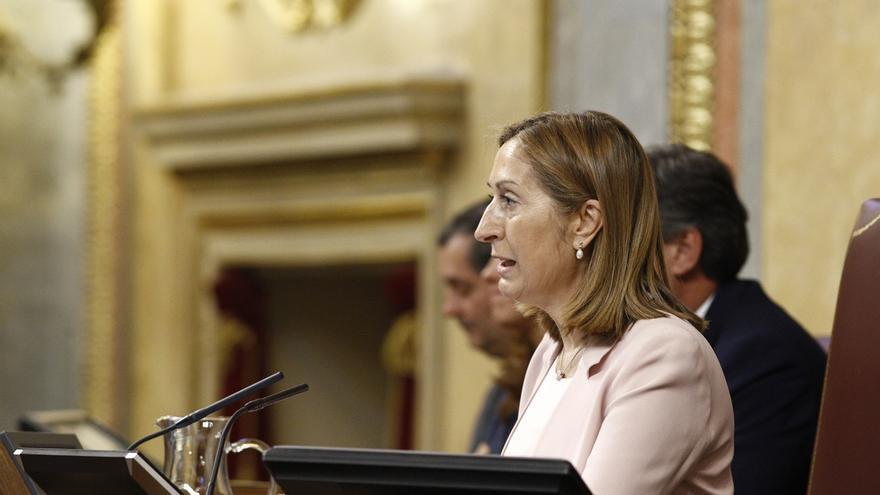 Ana Pastor acude al Palacio de la Zarzuela para informar al Rey de la composición del Congreso