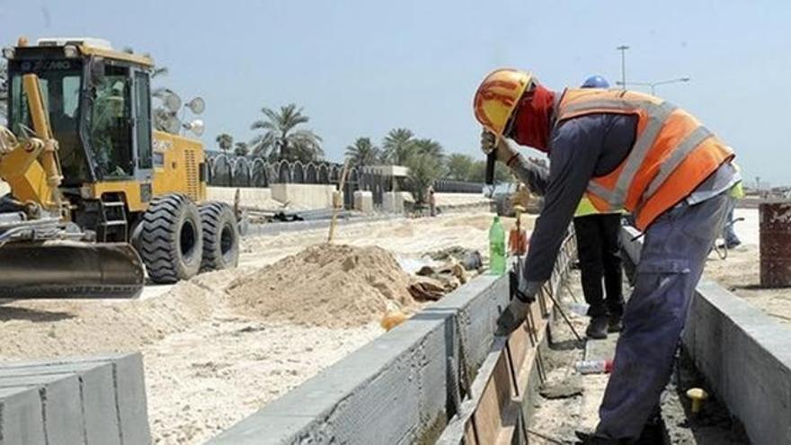 Trabajos de construcción en una zona urbanizable