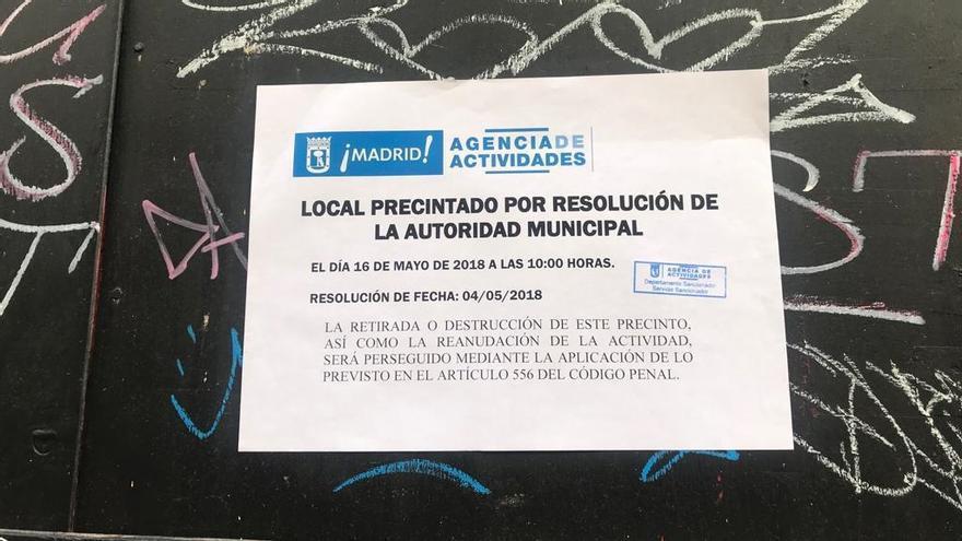 Precinto municipal sobre el afterhours de Jesús del Valle | SOMOS MALASAÑA