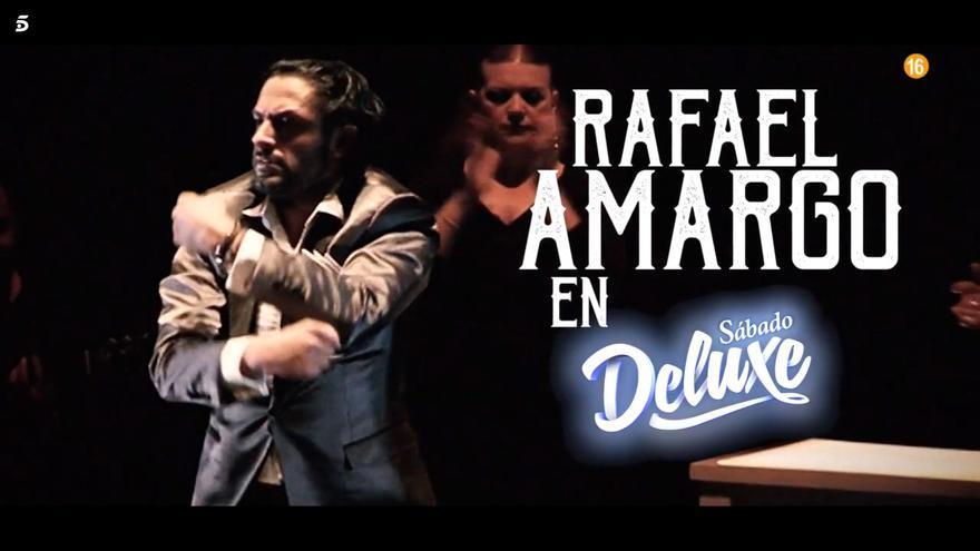 Rafael Amargo se sentará en el 'Deluxe'