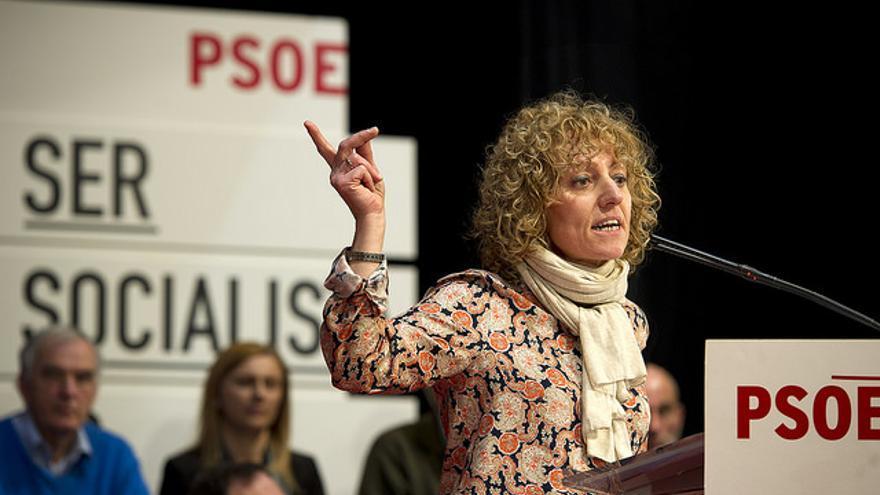 Eva Díaz Tezanos, en campaña en una imagen de archivo.