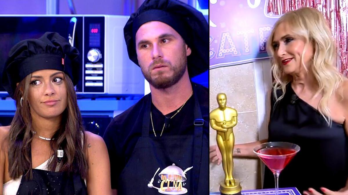 Melyssa, Tom y Cristina Cifuentes, en 'La última cena'