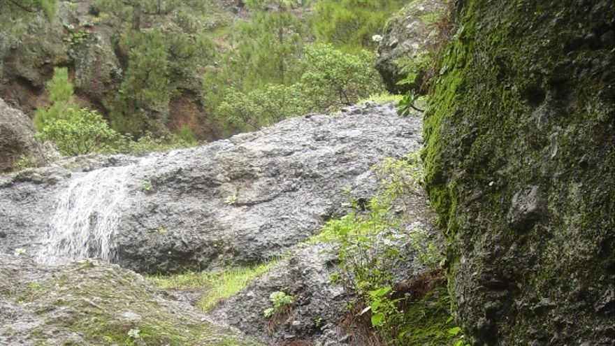 El agua corre libre hacia La Fuente del Pino (El Riachuelo).