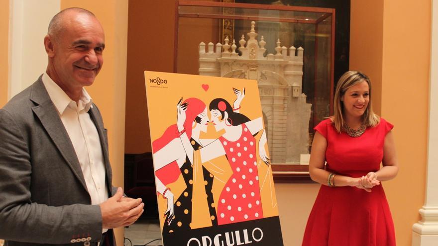 Cartel del mes de la diversidad sexual de Sevilla 2017