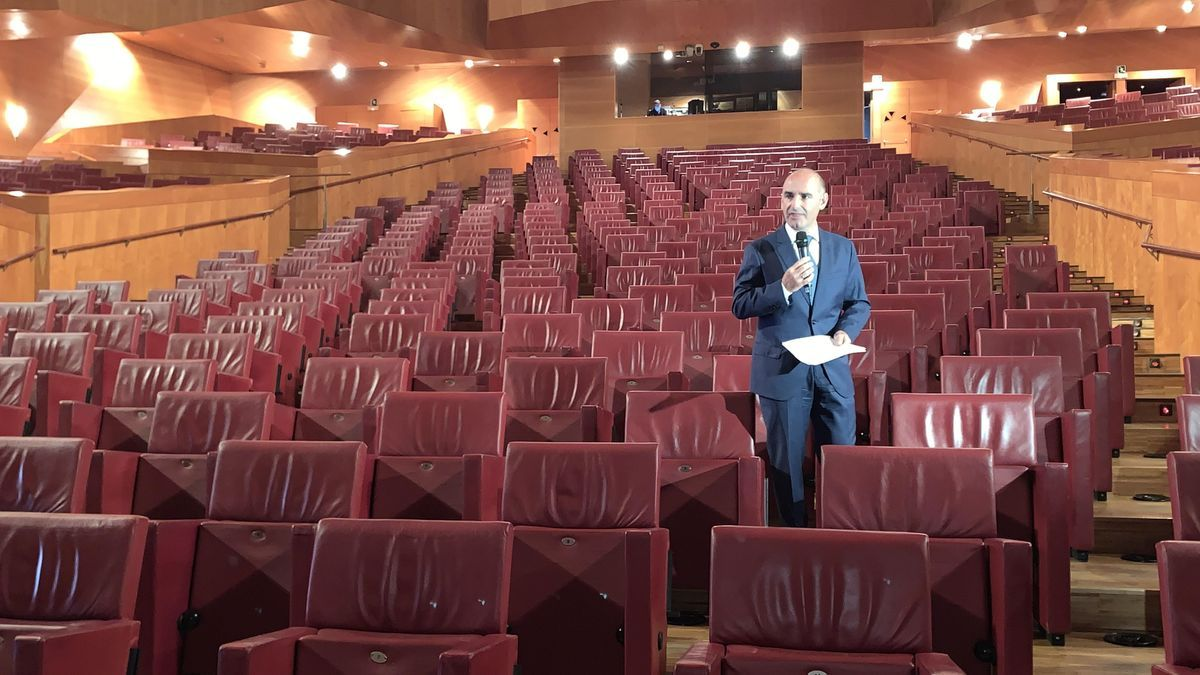 Andoni Aldekoa, en el auditorio del Palacio Euskalduna
