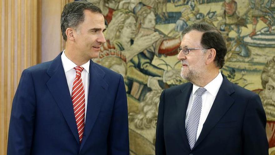 Mariano Rajoy y Felipe VI en una imagen de archivo
