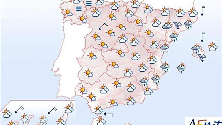Hoy, se prevé lluvia fuerte y tormentas en el área mediterránea