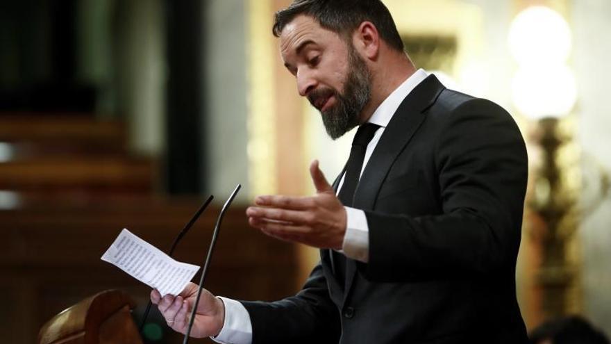 Abascal exige la dimisión de Sánchez y un Gobierno de emergencia nacional