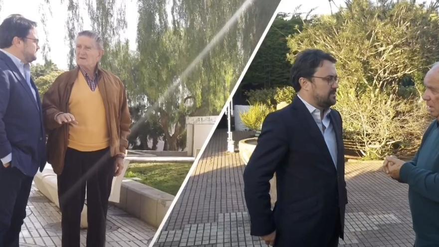 Asier Antona, con Alfonso Soriano y Fernando Fernández.
