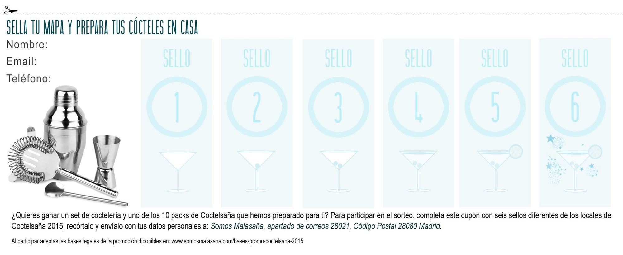 Cupón presente en los mapas de Coctelsaña