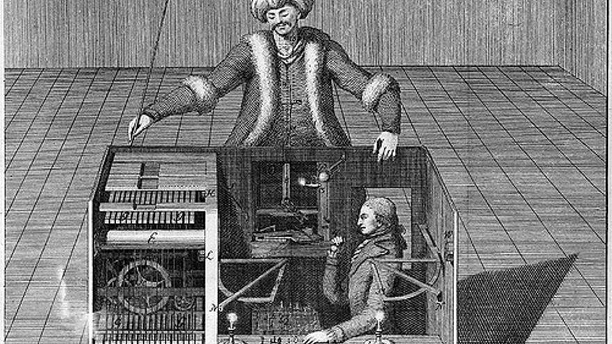 El famoso 'turco' era en realidad un humano que fingía ser una máquina