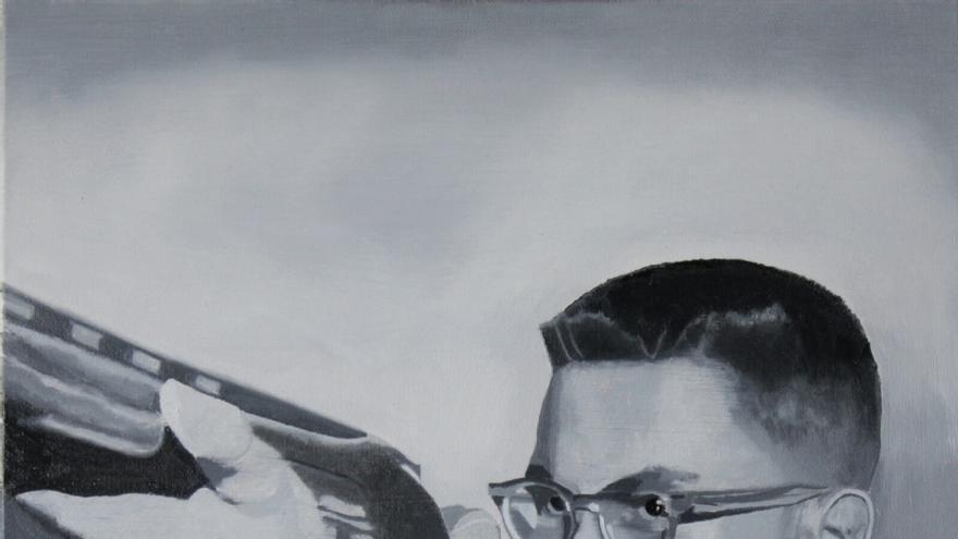 """El pintor bilbaíno Javier Ramos expone su colección de óleos """"Escenas americanas"""" en el Colegio de España en París"""