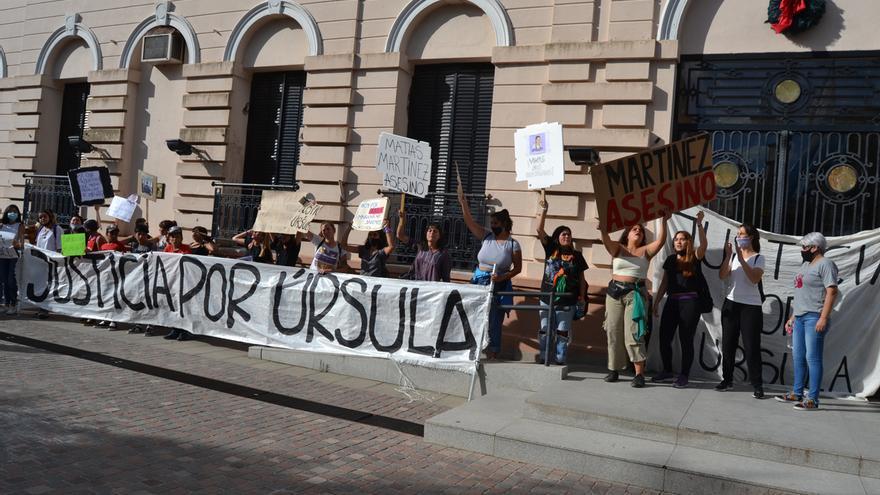 Protestas en Rojas por el femicidio de Úrsula Bahillo
