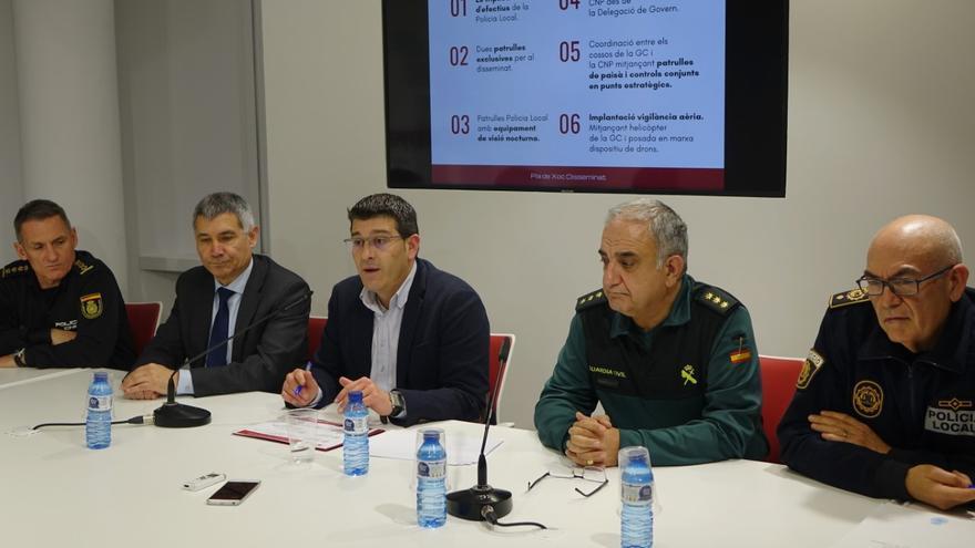 Autoridades y cuerpos de seguridad han presentado el plan de choque de Ontinyent