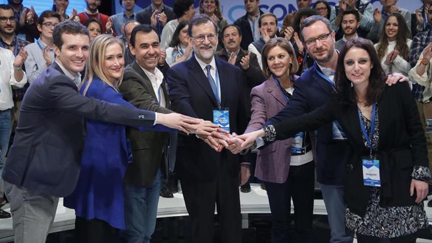 Rajoy, reelegido como líder del PP con el 95,65 por ciento de los votos