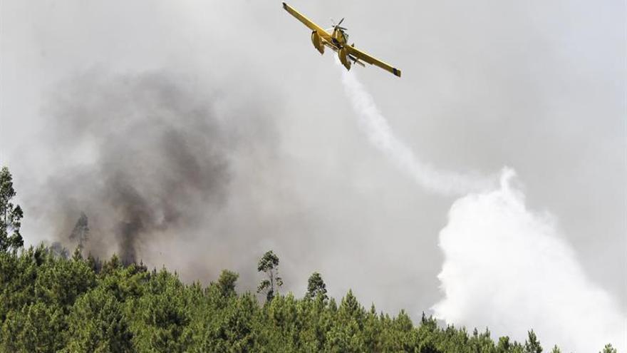 Bomberos dan por controlado el incendio de Abrantes, en el centro de Portugal