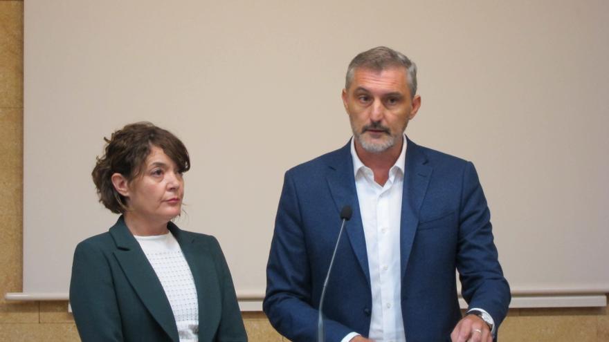 Óscar Urralburu, y María Giménez anuncian que abandonan Podemos para sumarse al proyecto Más Páis, de Íñigo Errejón / Europa Press