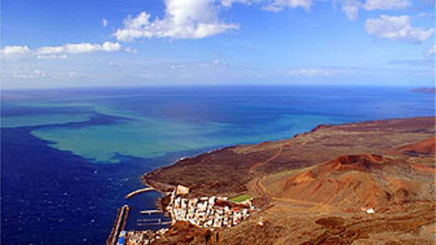 Imagen aérea de la mancha en el Mar de Las Calmas. (INVOLCAN)