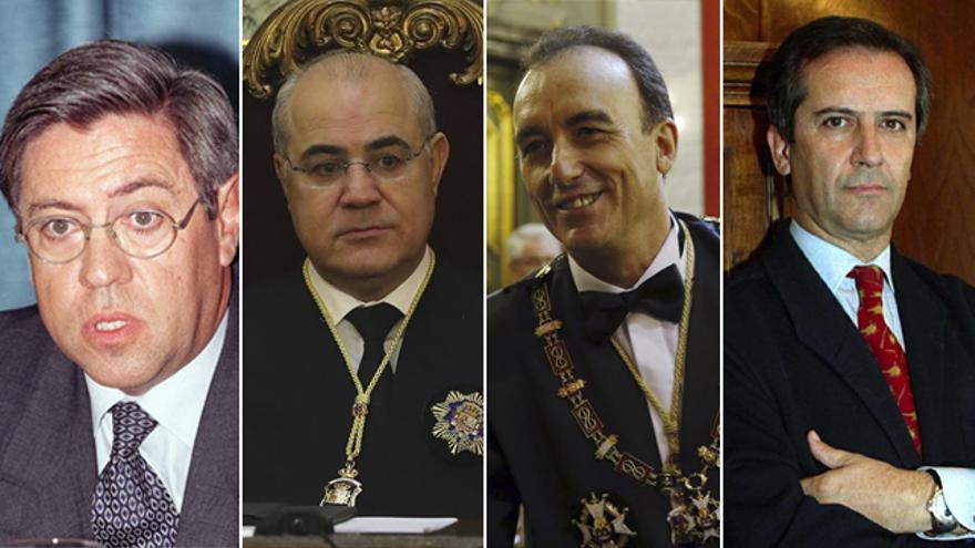 Los jueces Monterde, Llarena, Marchena y Colmenero