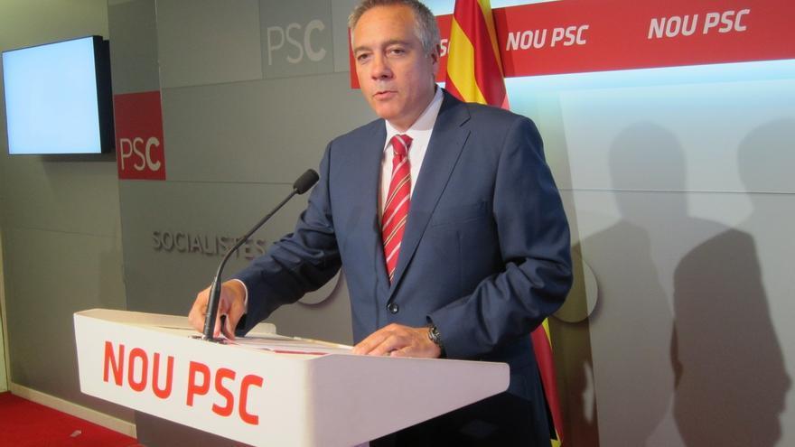 """El PSC defiende un """"referéndum"""" para decidir el encaje de Cataluña con España"""
