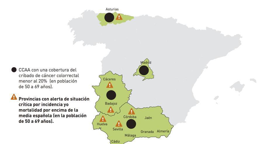 """Los """"puntos negros"""" del cribado del cáncer de colón en España / AECC"""