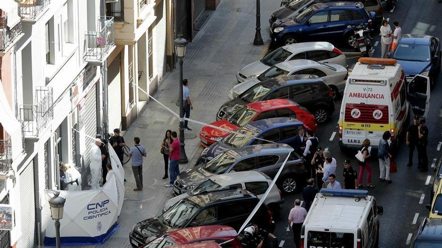 El ataque se ha producido en la calle Sueca de Valencia