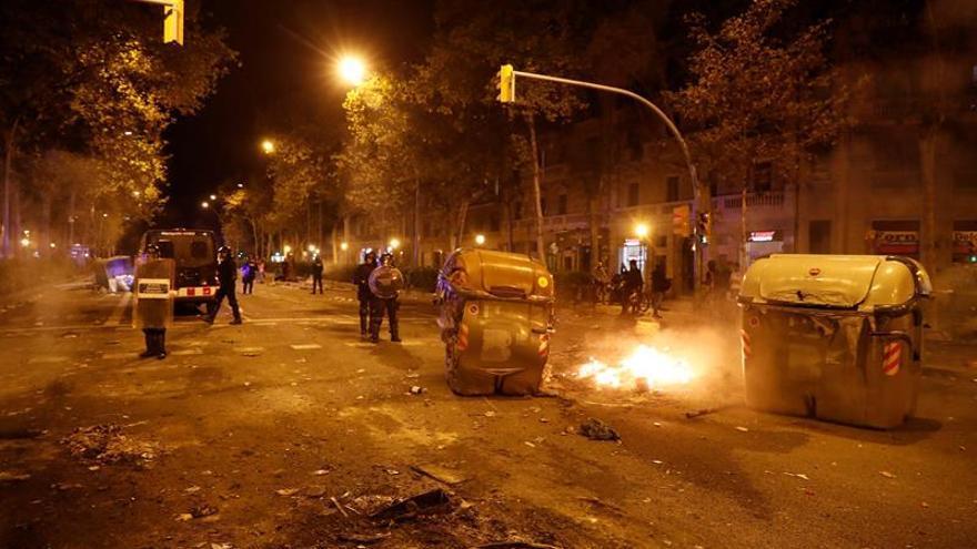 Un total 41 heridos y un detenido durante las protestas de hoy