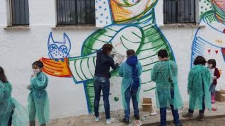 Mural en Cabeza La Vaca