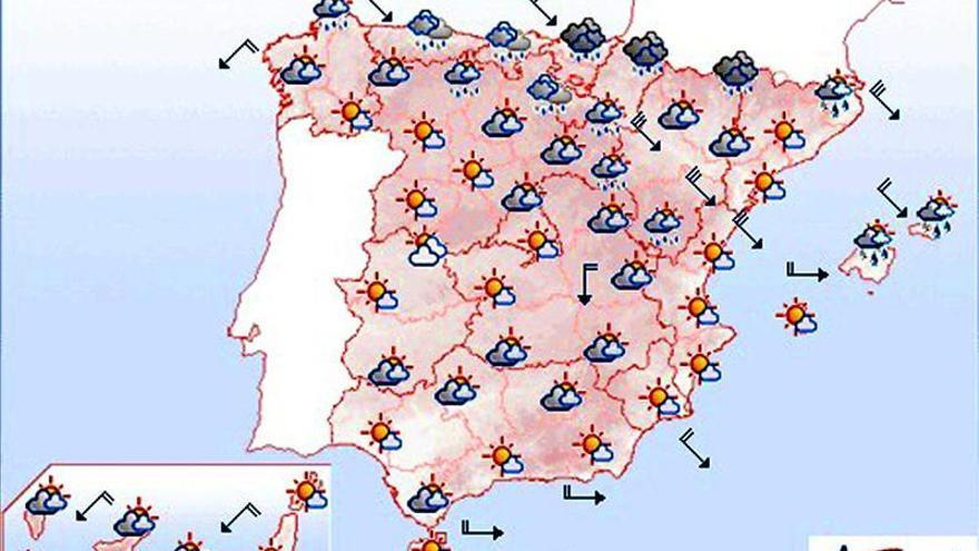 Mañana, lluvias y viento en el norte y ascenso de temperaturas en el sureste