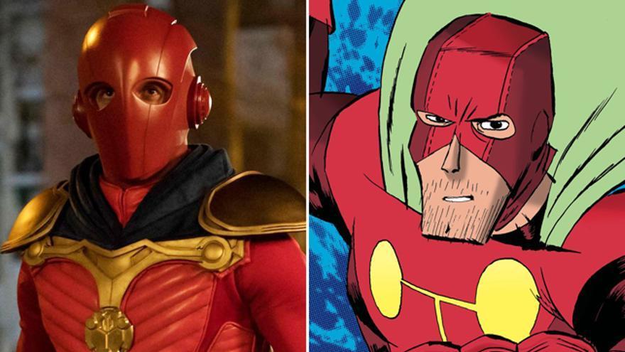 El actor Quim Gutiérrez vestido de superhéroe para la serie basada en el cómic 'El vecino'