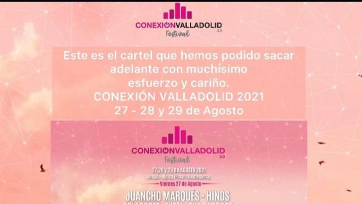 Nuevo cartel para la edición aplazada del festival Conexión Valladolid. - CONEXIÓN VALLADOLID