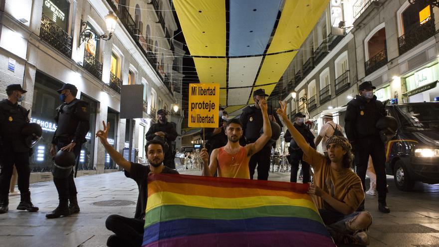 Manifestación convocada en la Puerta del Sol con motivo del aumento de agresiones LGBTfóbicas   Elvira Megías