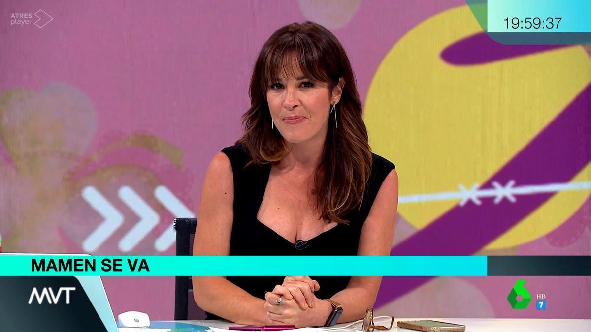 Mamen Mendizábal en su último programa de 'Más vale tarde'