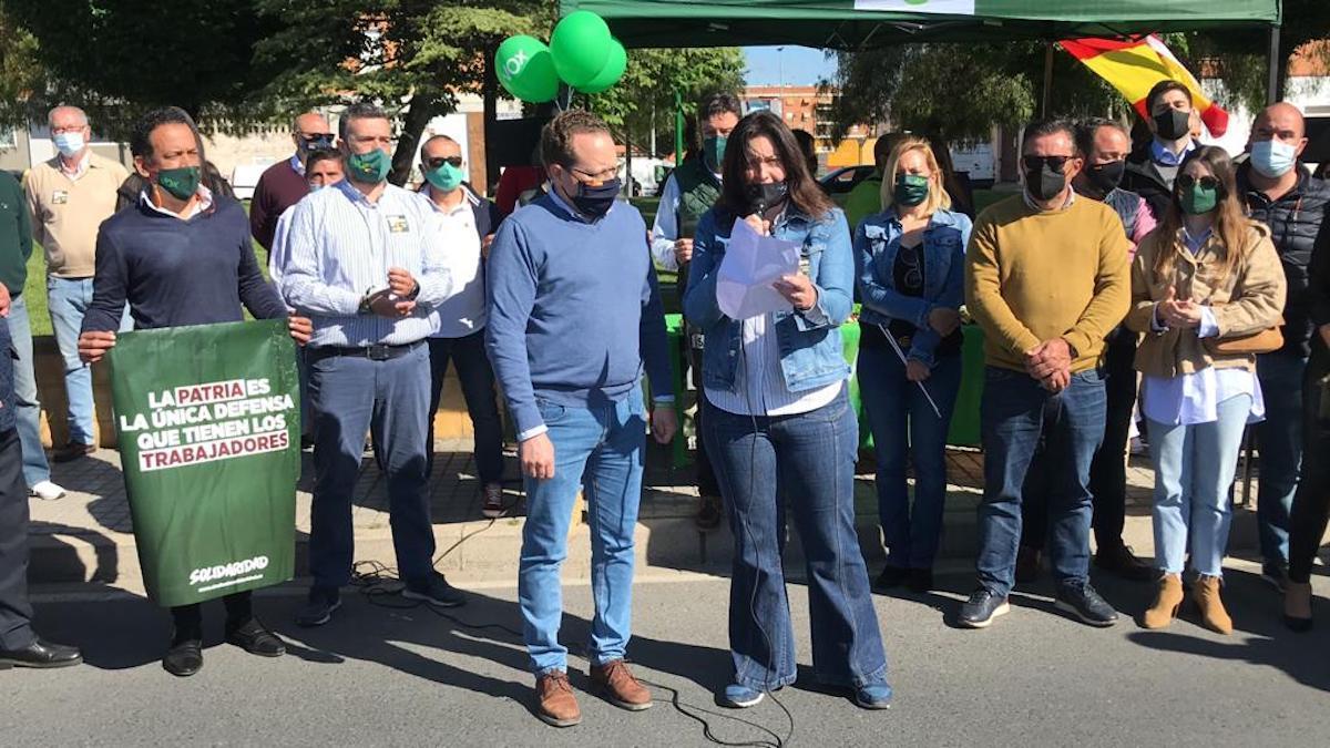 Acto de Vox Córdoba por el primero de mayo.