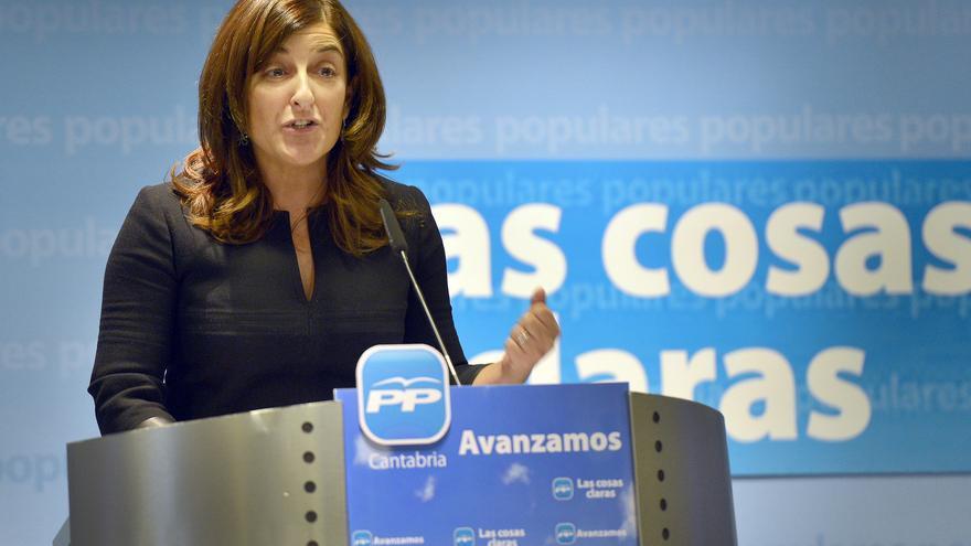 María José Sáenz de Buruaga, candidata a la presidencia del PP de Cantabria.
