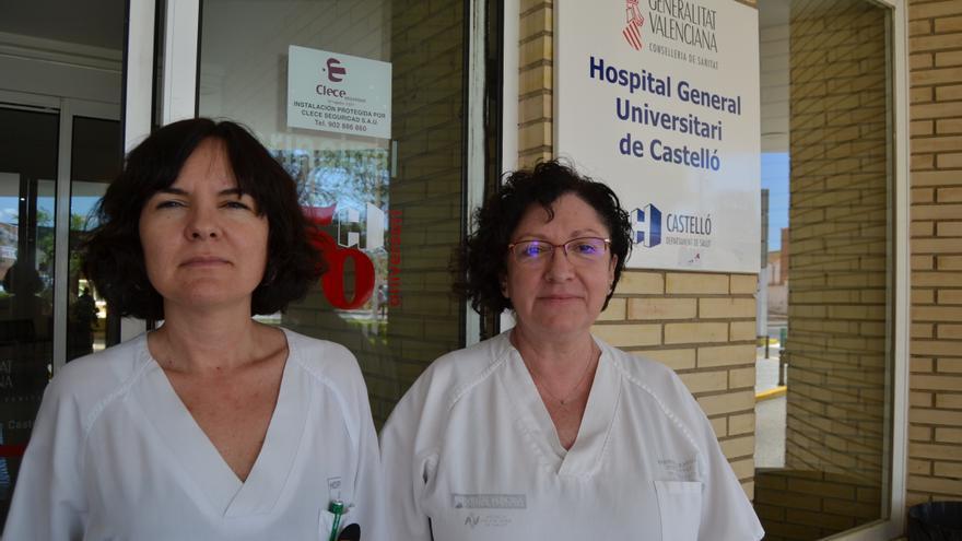 Núria Tornador, médica especialista en medicina interna, y Amparo Lozano, ginecóloga. Ambas trabajan en el Hospital General de Castelló.
