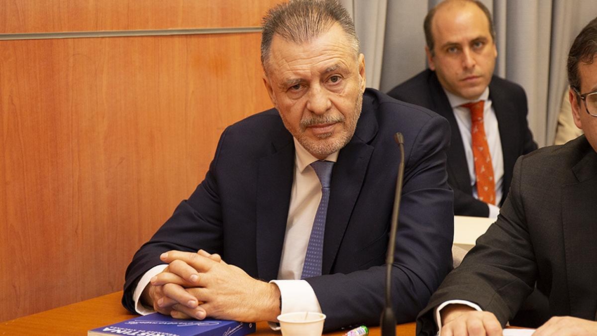 Cristóbal López, en el inicio del juicio por Oil Combustibles, en junio de 2019.