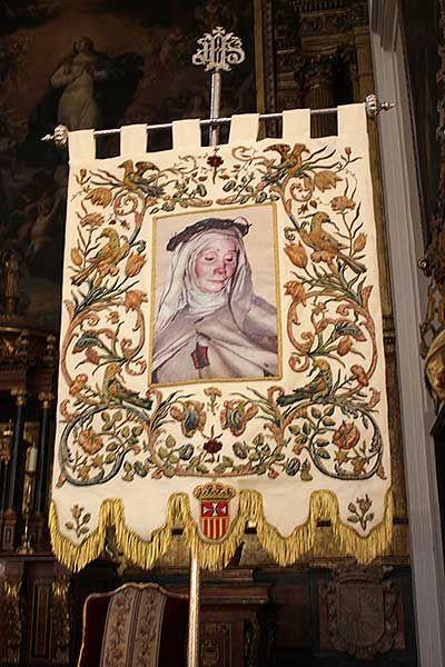 Estandarte con la imagen de la beata Mariana de Jesús | SOMOS MALASAÑA