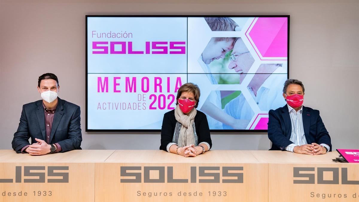 Los responsables de la Fundación Soliss en rueda de prensa